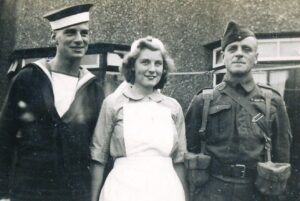 Eric and family before heading off to war