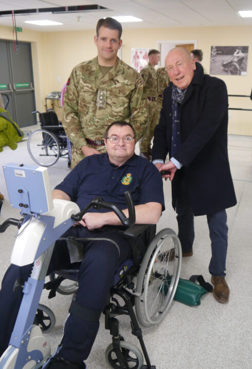 Captain David Curry, Christopher Timothy, and Steve Boylan earlier this year