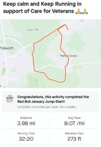 Jordan's 5k route