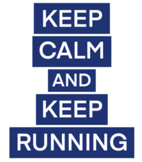 Keep Calm and Keep Running logo