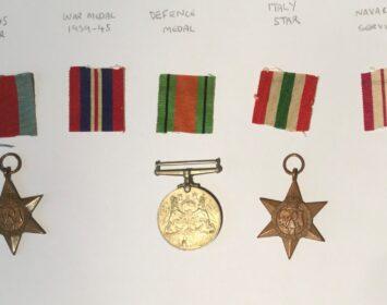 Dan Skipp Grandad medals