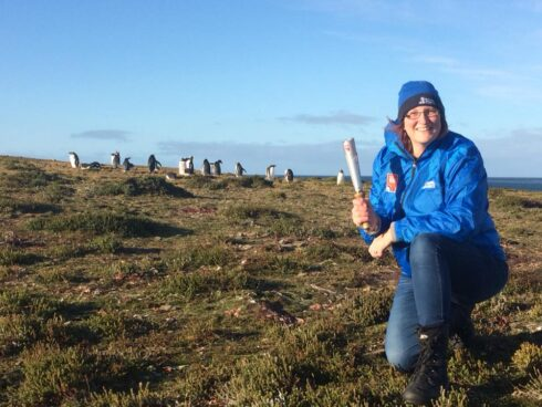 Rachel Haith - Falklands RAF 100 baton relay